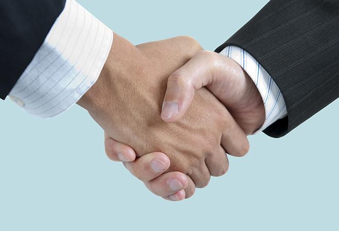 consultants' handshake